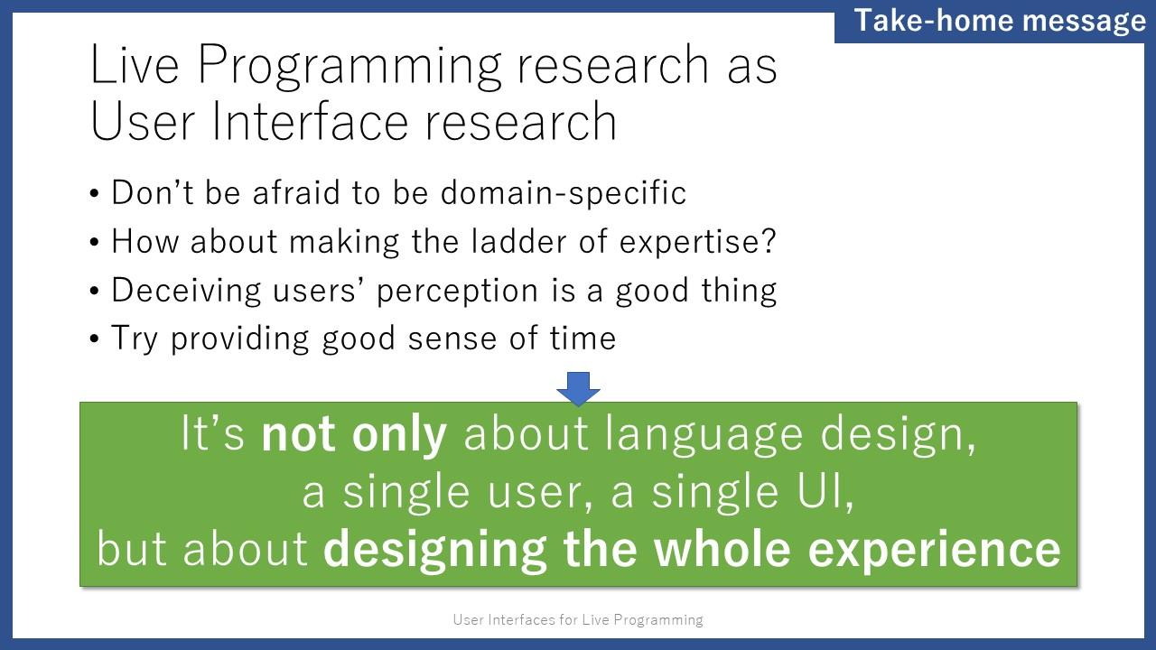 User Interfaces for Live Programming | junkato jp